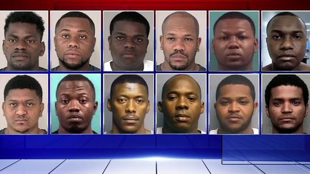 17个哥伦比亚的男性和休斯敦的120起盗窃案有关