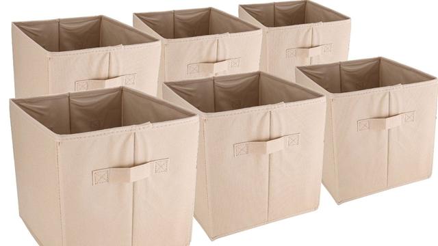 可折叠整理箱6个(原价$39.99 )