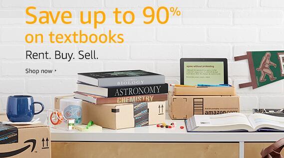 各类二手教材特价最高90%优惠,尽在亚马逊!