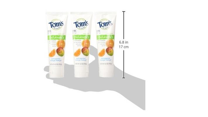 防止蛀牙!天然含氟儿童牙膏(3支)
