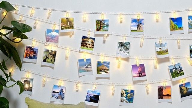 创意浪漫照片墙 LED 灯串夹子 3米20个