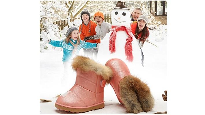 天冷了!超级可爱的女童雪地靴