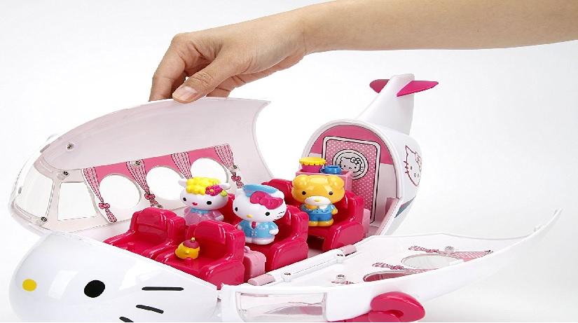 Jada Hello Kitty 飞机玩具套装~超可爱车模