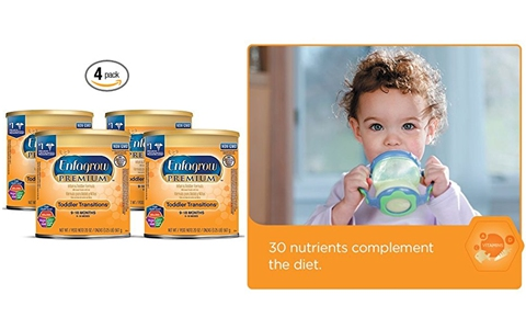 Enfagrow 美赞臣精装婴儿配方奶粉(4罐 20盎司 9-18个月宝宝)