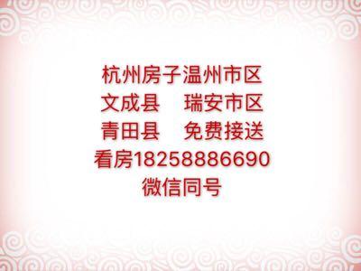 杭州房子温州文成瑞安青田免费接送看房
