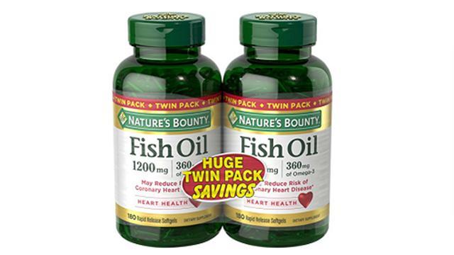 Nature's Bounty1200 mg鱼油-2瓶装