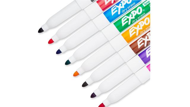 EXPO低气味多色白板笔8支装