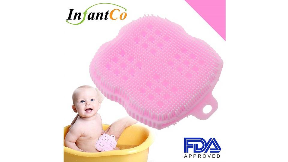 InfantCo抗菌轻柔超软洗澡海绵