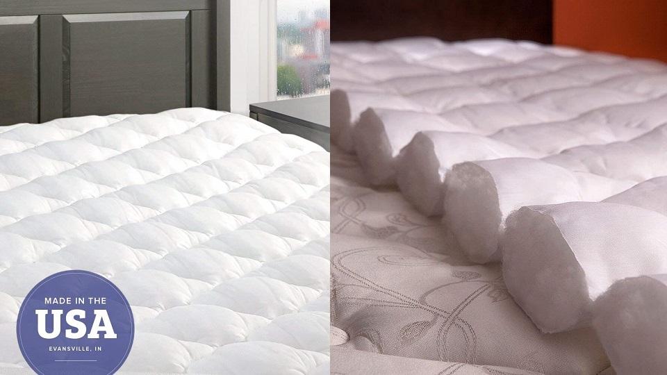 舒适5星床垫褥带床裙-Queen size