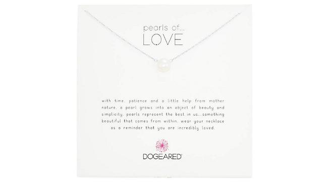 明星款Dogeared挚爱珍珠项链