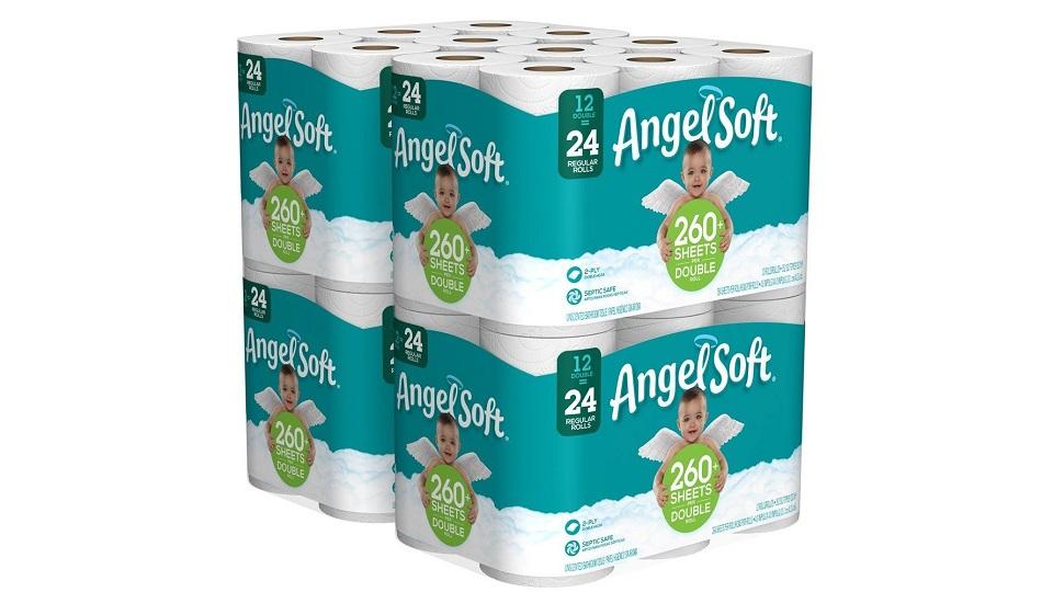 Angel超柔软2层厚卫生卷纸-共48卷!