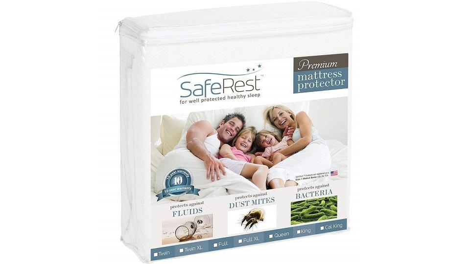 SafeRest Premium防过敏防水床垫保护套