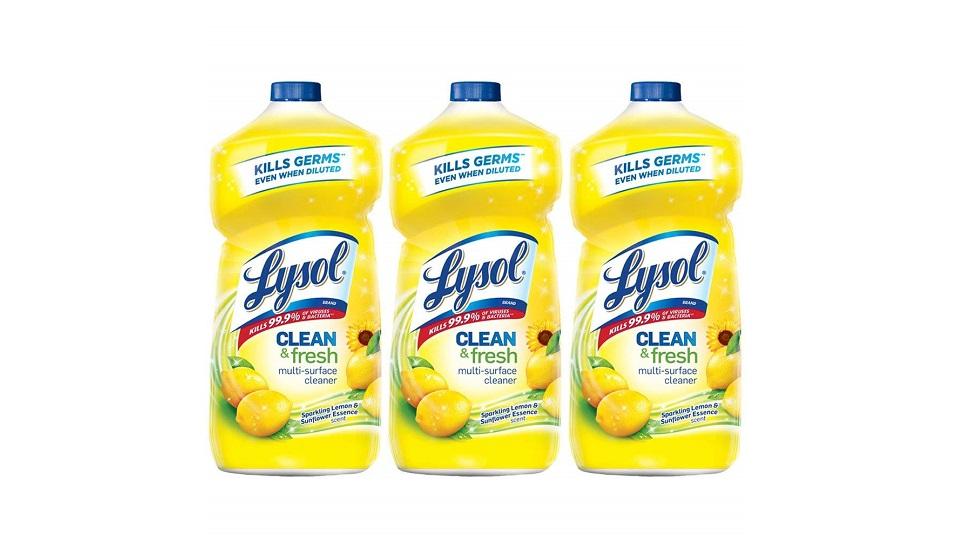 Lysol 柠檬清香多功能清洁液3瓶-3X40oz