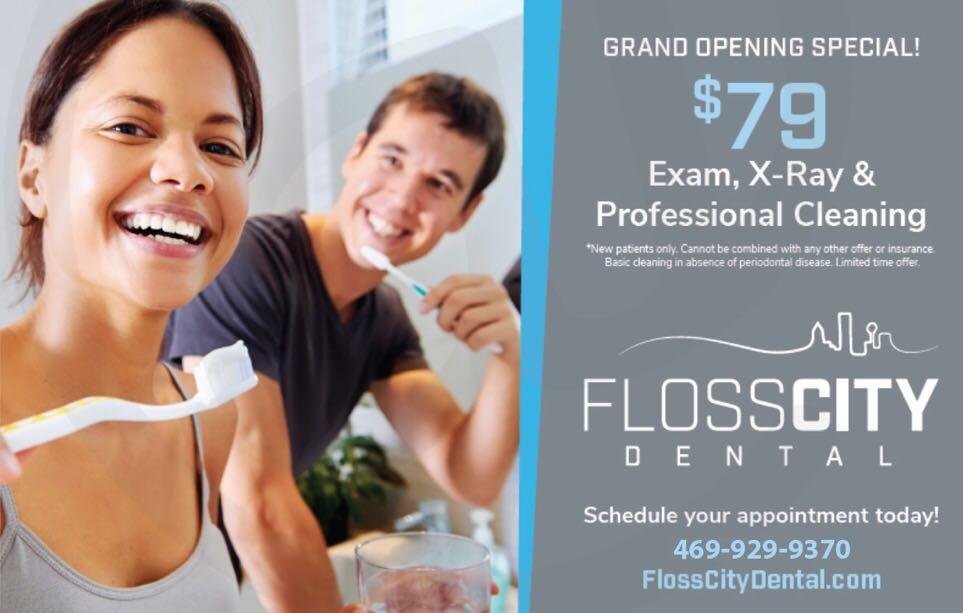 $79优惠套餐-FlossCity Dental牙医诊所开业大酬宾